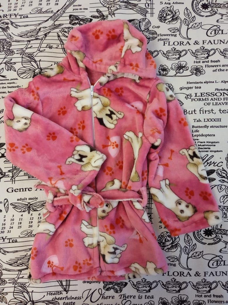 Детский халат для девочки, цвет: розовый, артикул: HAL2