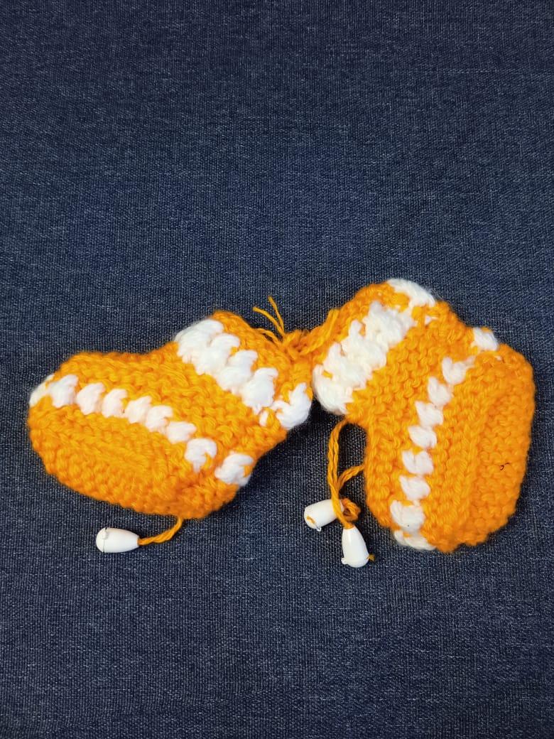 Детские пинетки для малышей, цвет: оранжевый, артикул: PIN-7