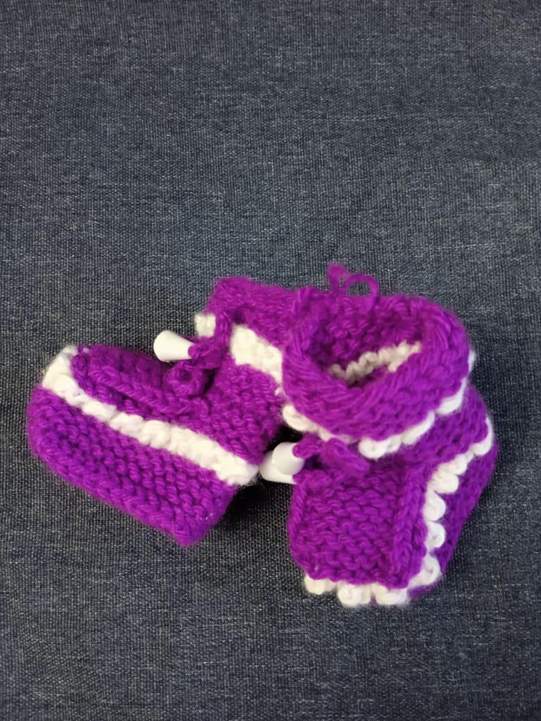 Детские пинетки для малышей, цвет: фиолетовый, артикул: PIN-2