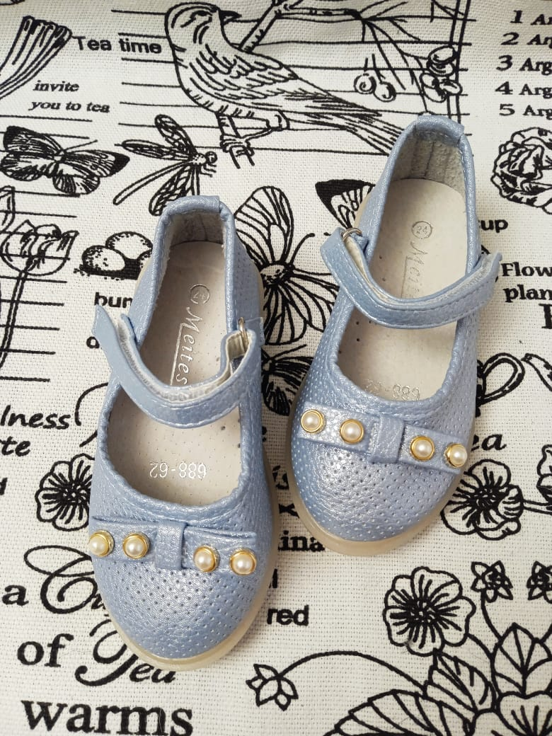 Детские туфли для девочек MEITESI, цвет голубой, артикул: MEI1
