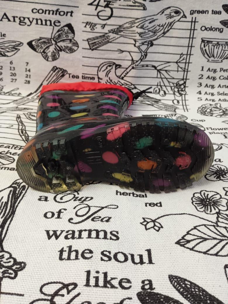 Детские резиновые сапоги для девочек, цвет: черный