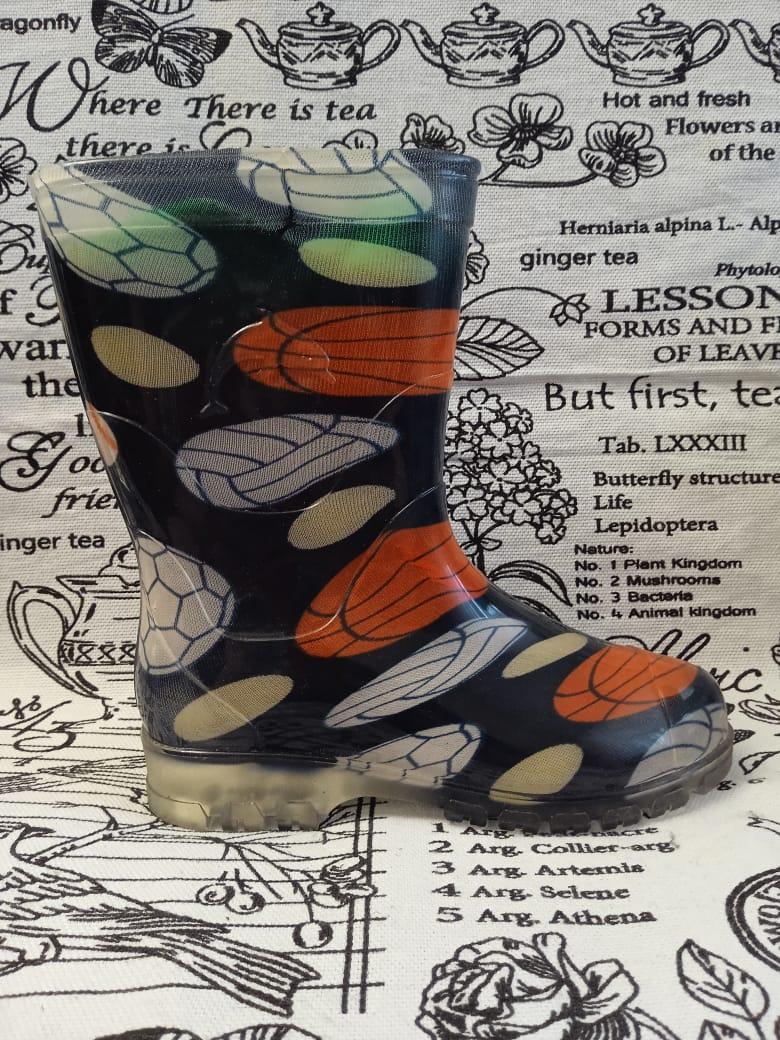 Детские резиновые сапоги для мальчика, цвет: черный