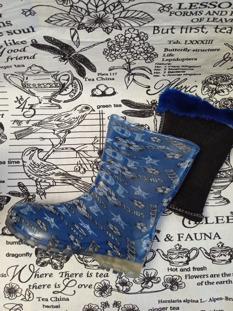 Детские резиновые сапоги для мальчика, цвет: синий