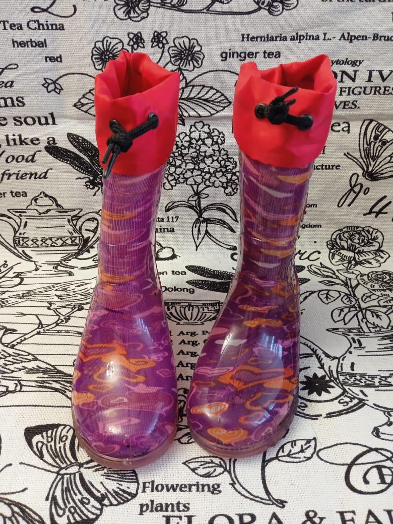 Детские резиновые сапоги для девочек, цвет: сиреневый