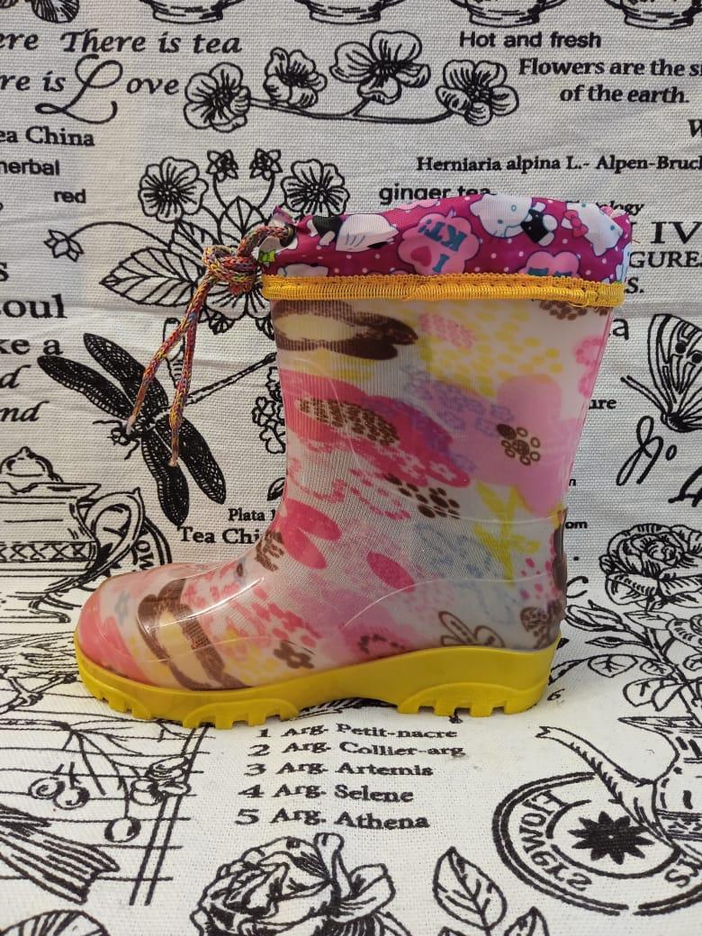 Детские резиновые сапоги для девочек, цвет: розовый, артикул: REZ7