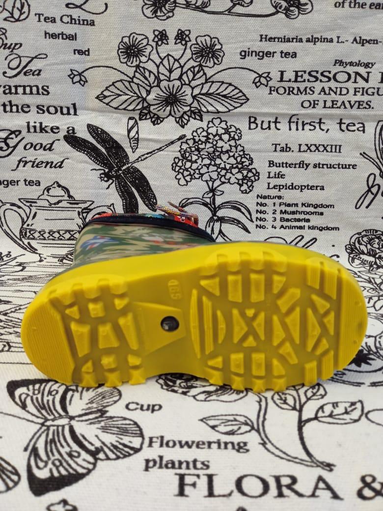 Детские резиновые сапоги для мальчика, цвет: хаки, артикул: REZ8