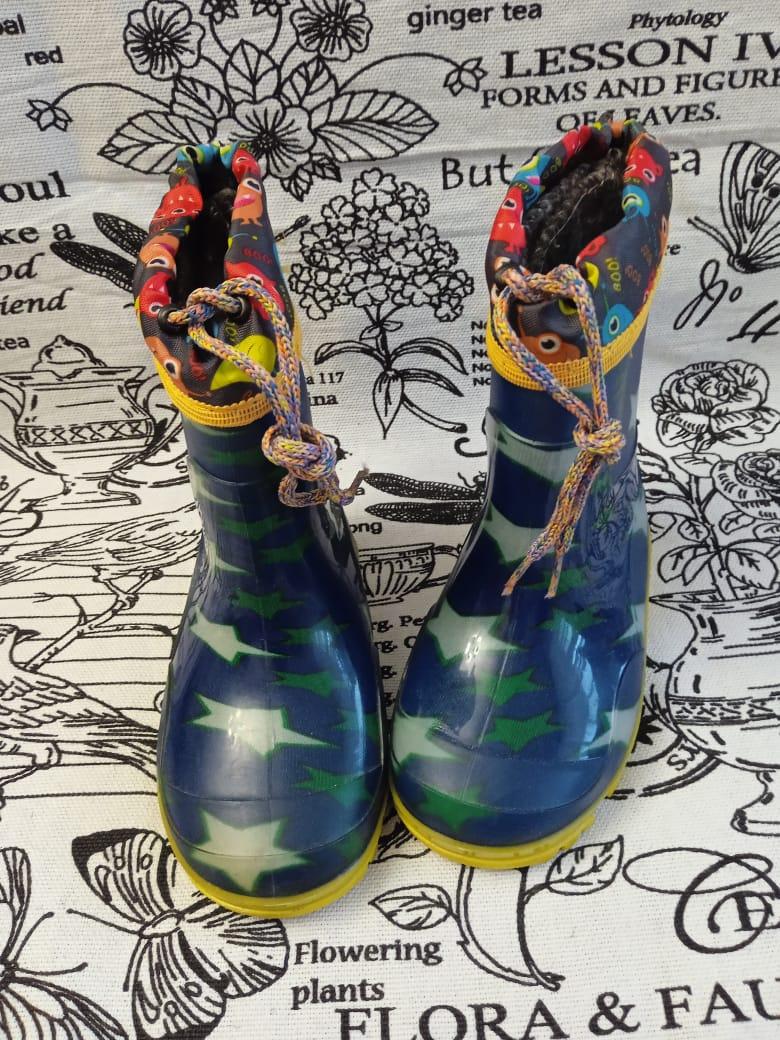Детские резиновые сапоги для мальчика, цвет: голубой, артикул: REZ9