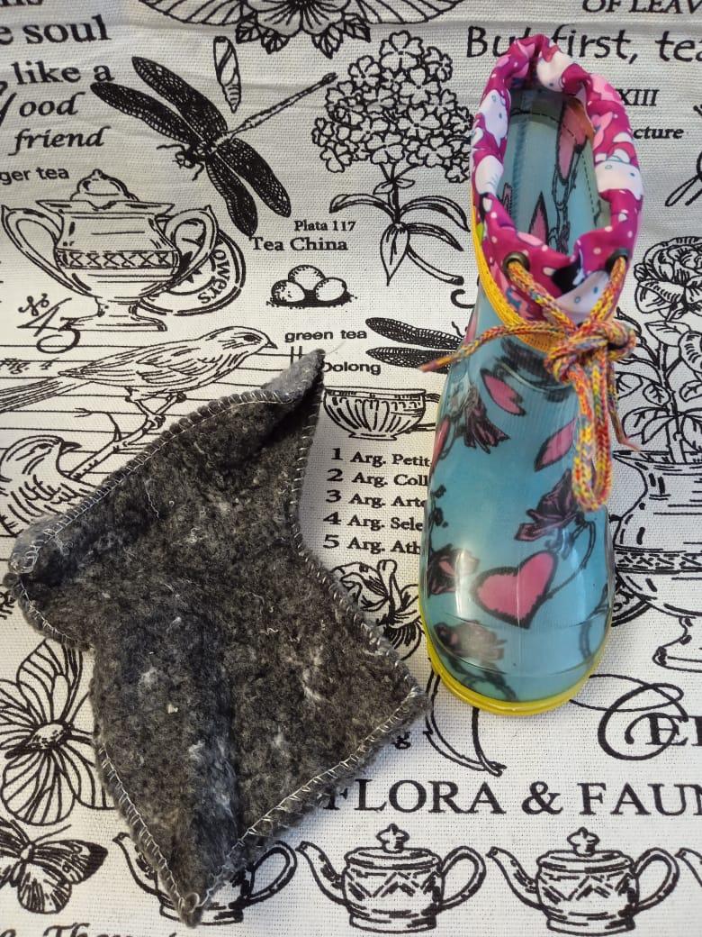 Детские резиновые сапоги для девочек, цвет: светло-голубой
