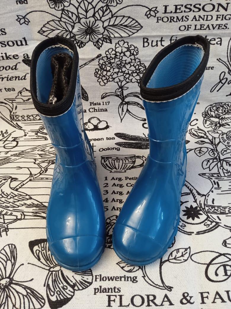 Детские резиновые сапоги для мальчика, цвет: голубой, артикул: REZ12