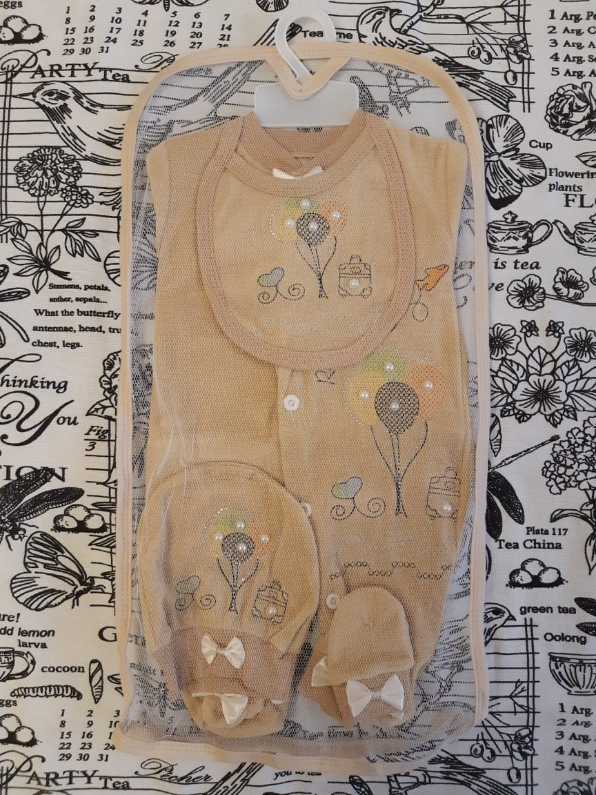 Комплект на выписку (4 предметов), цвет: песочный, артикул: 4200-8