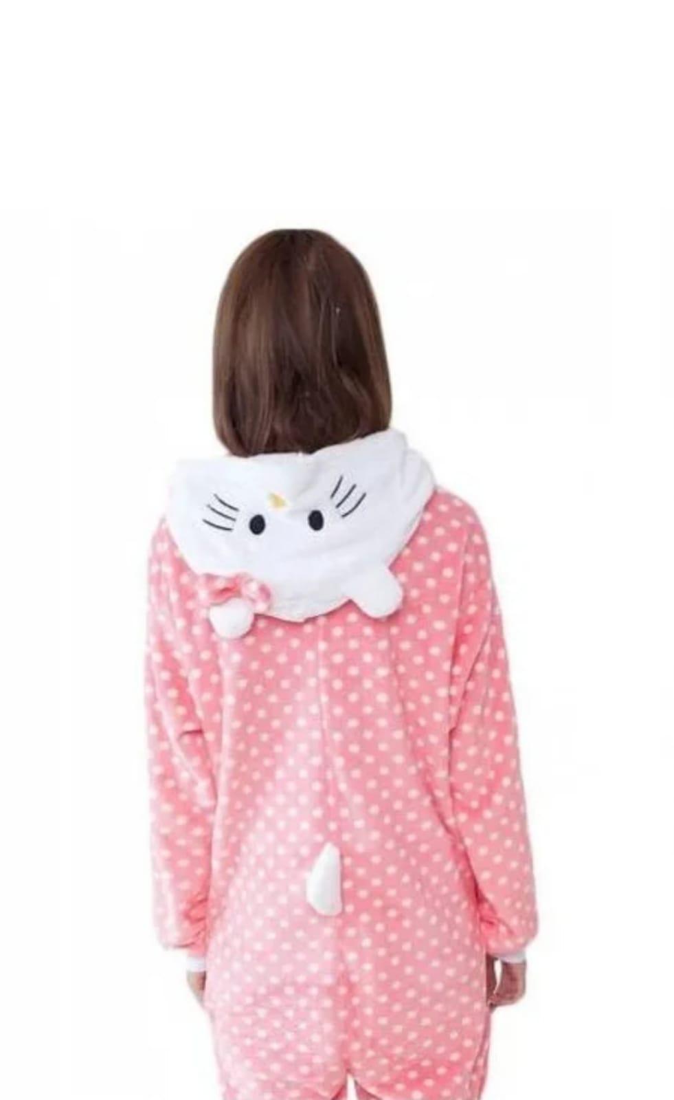 Детский кигуруми пижама HELLO KITTY, цвет: розовый, артикул: KIG-17