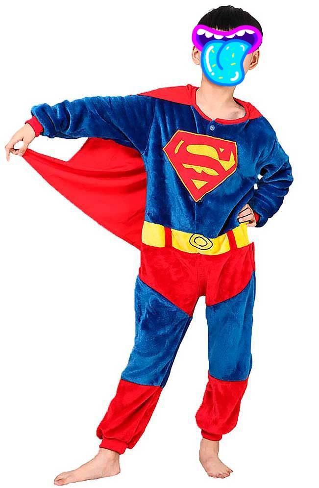 Детский кигуруми пижама Супермен, цвет: синий, артикул: KIG-20
