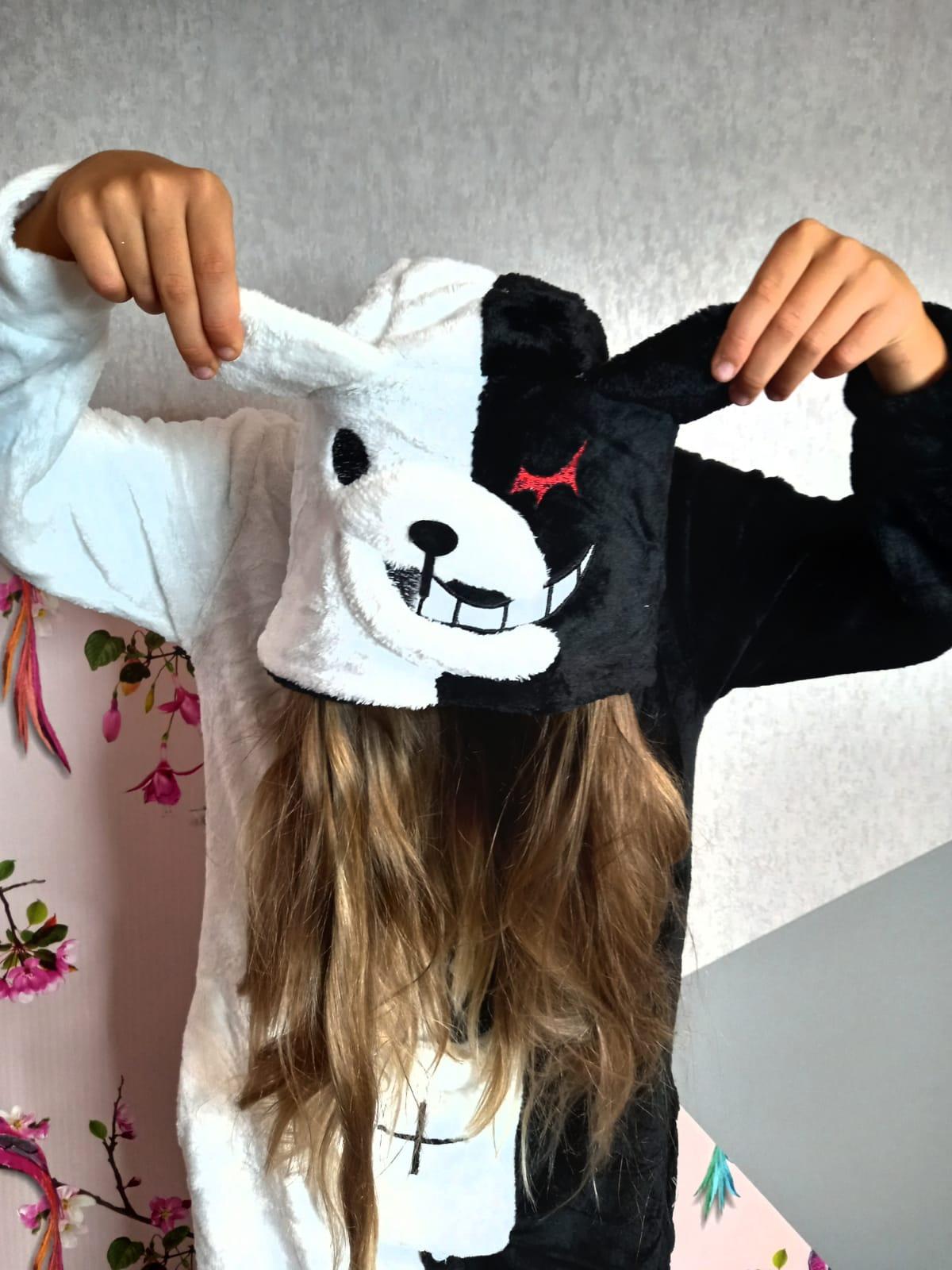 Детский кигуруми пижама Медведь монокума, артикул: KIG-25