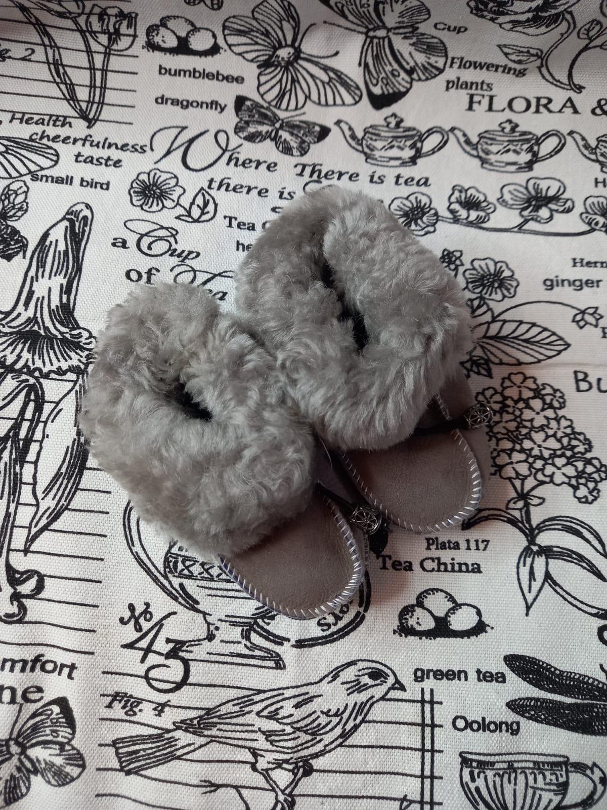 Детские пинетки для малышей из натуральной овчины, артикул: PIN-27